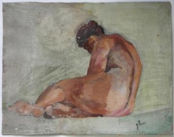 Desnudo femenino sin título Ignacio Pinazo Camarlench