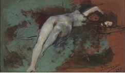 Desnudo de mujer Ignacio Pinazo Camarlench Museo Nacional Prado