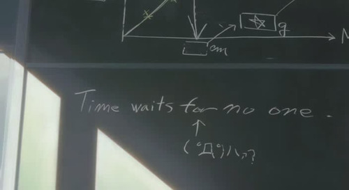 «Time waits for no one»