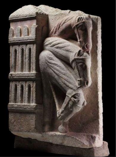 """""""Caballos del cortejo de los reyes magos"""" (Maestro Mateo, h. 1200) © Madrid, Museo Nacional Del Prado. Disponible en: http://www.museodelprado.es"""