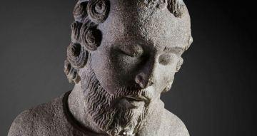 """Detalle de """"San Mateo"""" (Maestro Mateo, h.1200) © Madrid, Museo Nacional Del Prado. Disponible en: http://www.museodelprado.es"""