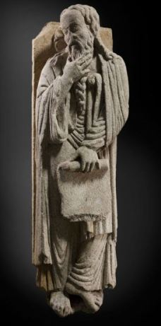 """""""Elías/ Enoc"""" (Maestro Mateo, h. 1188) © Madrid, Museo Nacional Del Prado. Disponible en: http://www.museodelprado.es"""