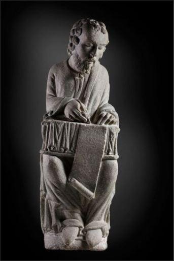 """""""San Mateo"""" (Maestro Mateo, h.1200) © Madrid, Museo Nacional Del Prado. Disponible en: http://www.museodelprado.es"""