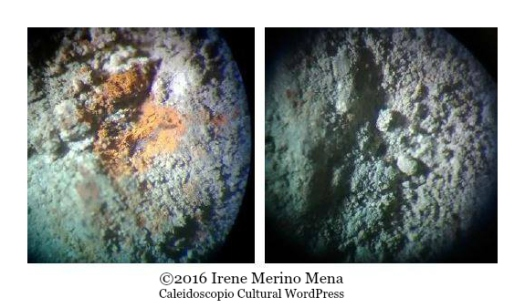 Productos de corrosión presentes en el hierro. Análisis mediante MOP. ©2016 Irene Merino Mena. Caleidoscopio Cultural WordPress.