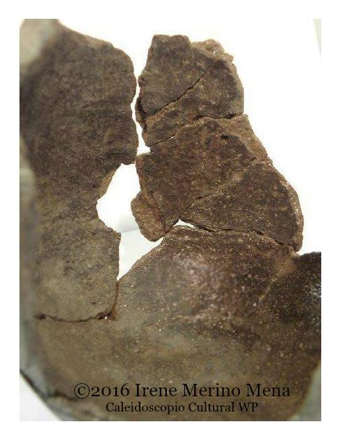 Reconstrucción de cerámica. Conservación-restauración de material arqueológico. Conservación y Restauración Irene Merino Mena. ©2016 Irene Merino Mena