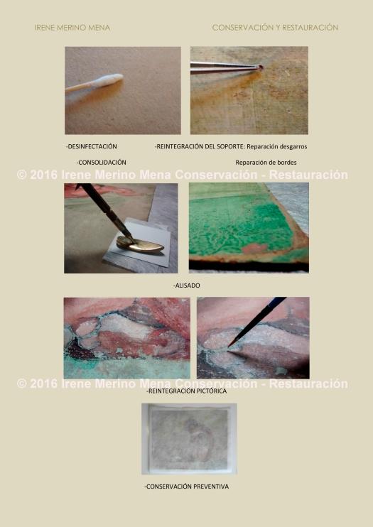 Póster Tratamientos Conservación-Restauración 'Desnudo femenino sin título' . Conservación-Restauración Irene Merino Mena. Más información en https://www.facebook.com/conservacionrestauracionirene ©2016 Irene Merino Mena.